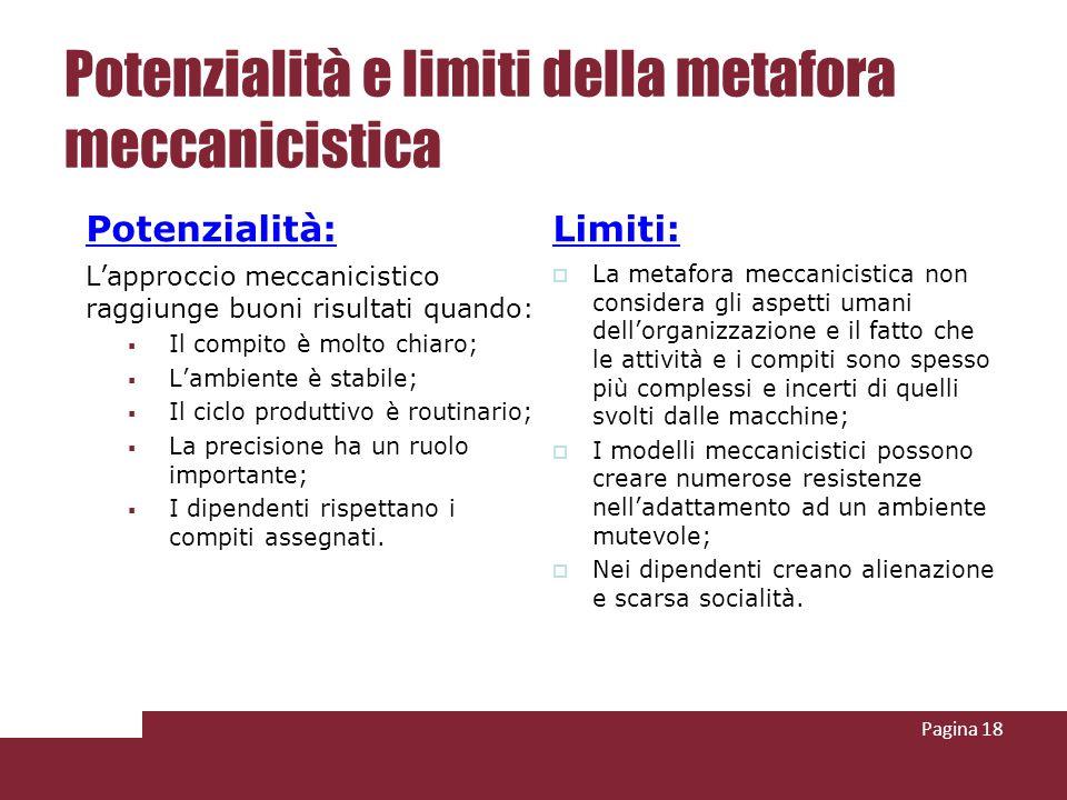 Potenzialità e limiti della metafora meccanicistica