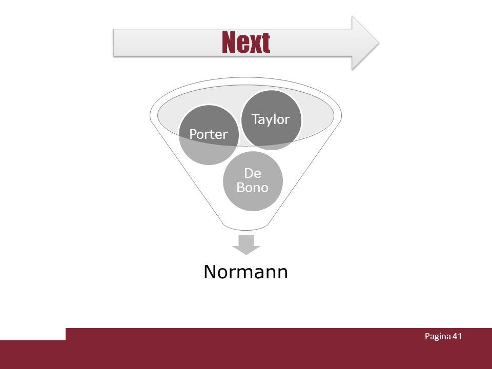 Next Taylor Porter De Bono Normann