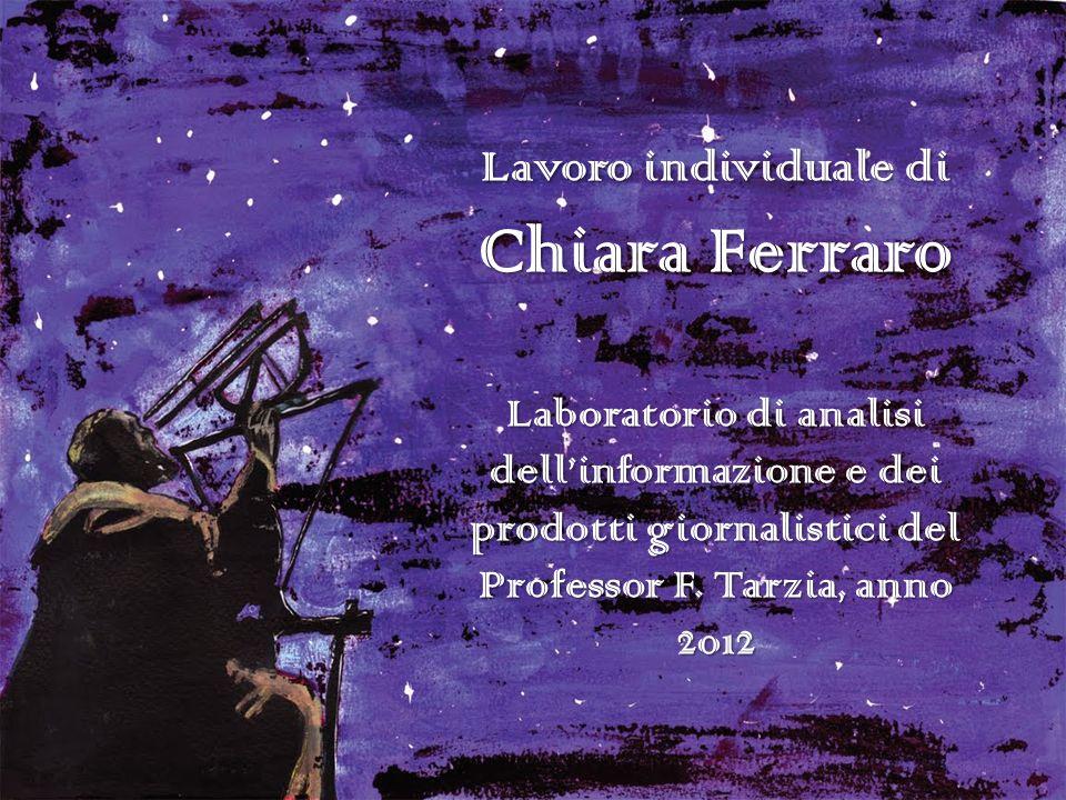 Lavoro individuale di Chiara Ferraro