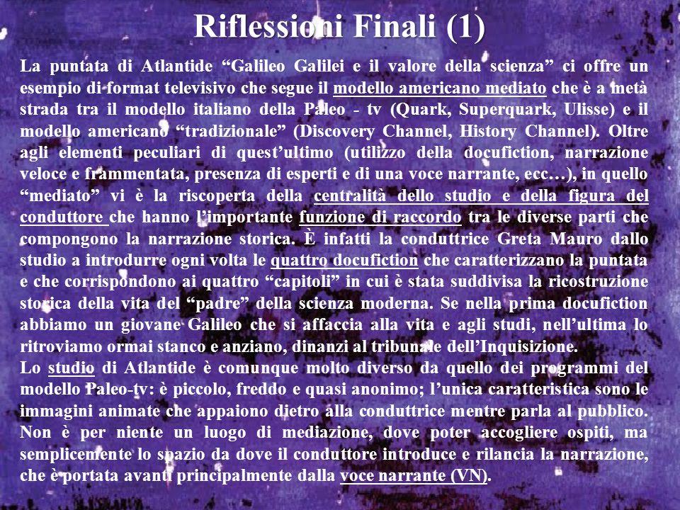 Riflessioni Finali (1)