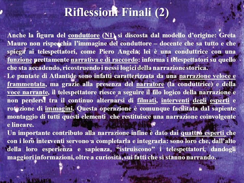 Riflessioni Finali (2)