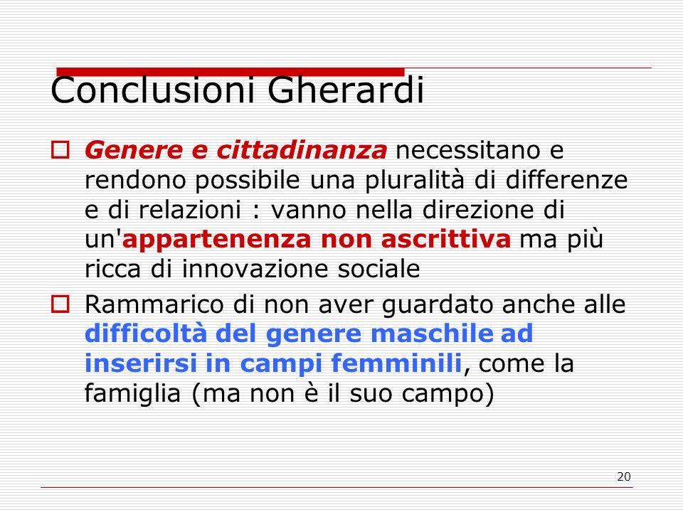 Conclusioni Gherardi