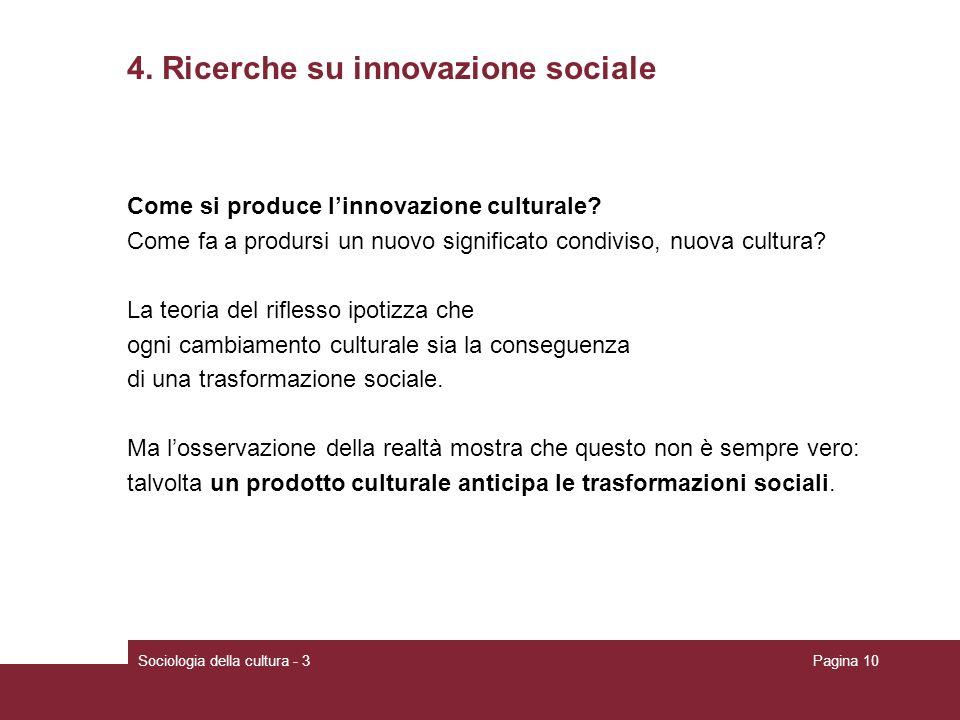 4. Ricerche su innovazione sociale
