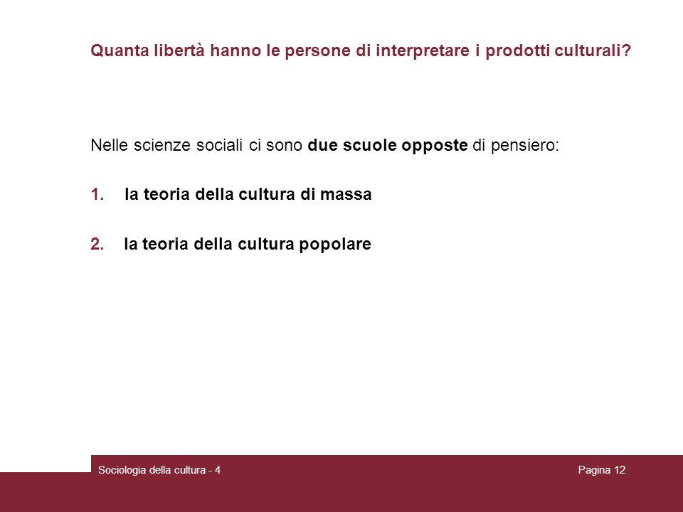 Quanta libertà hanno le persone di interpretare i prodotti culturali