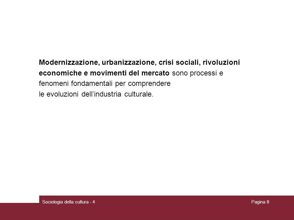 Modernizzazione, urbanizzazione, crisi sociali, rivoluzioni