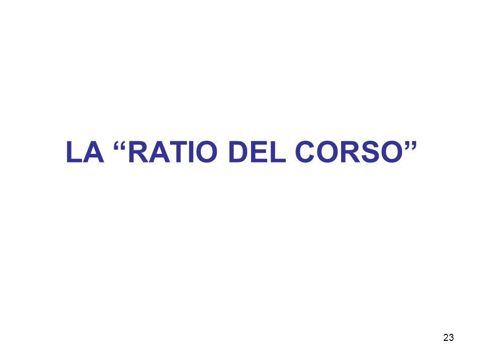 LA RATIO DEL CORSO