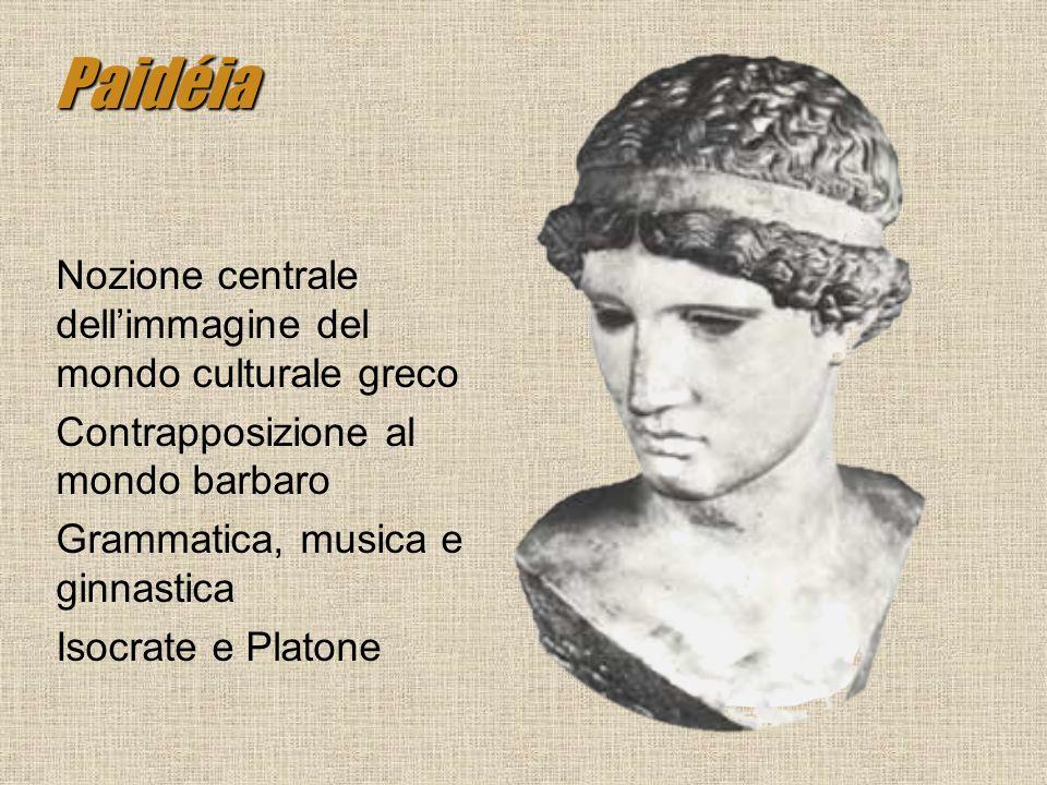 Paidéia Nozione centrale dell'immagine del mondo culturale greco