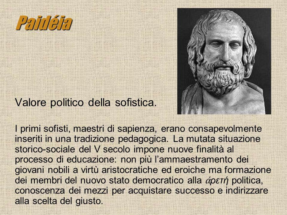 Paidéia Valore politico della sofistica.