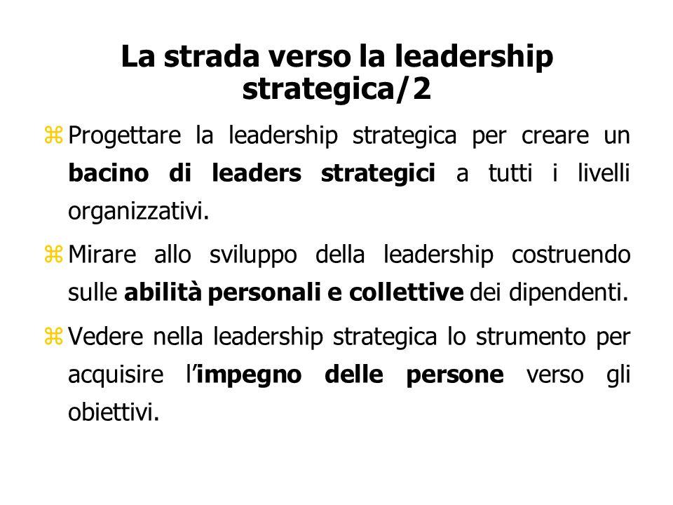 La strada verso la leadership strategica/2