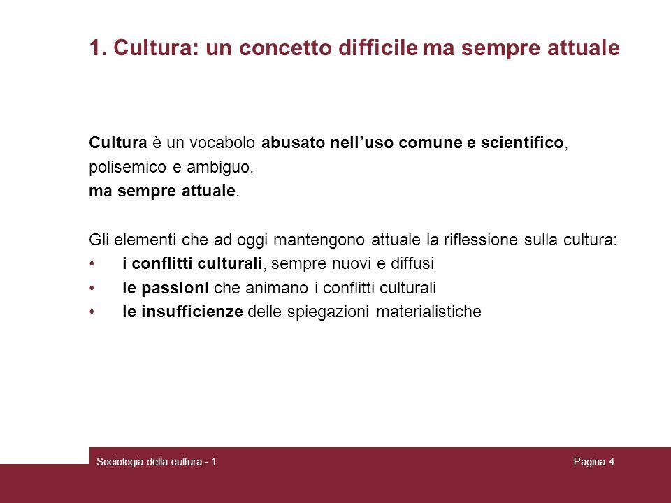 1. Cultura: un concetto difficile ma sempre attuale