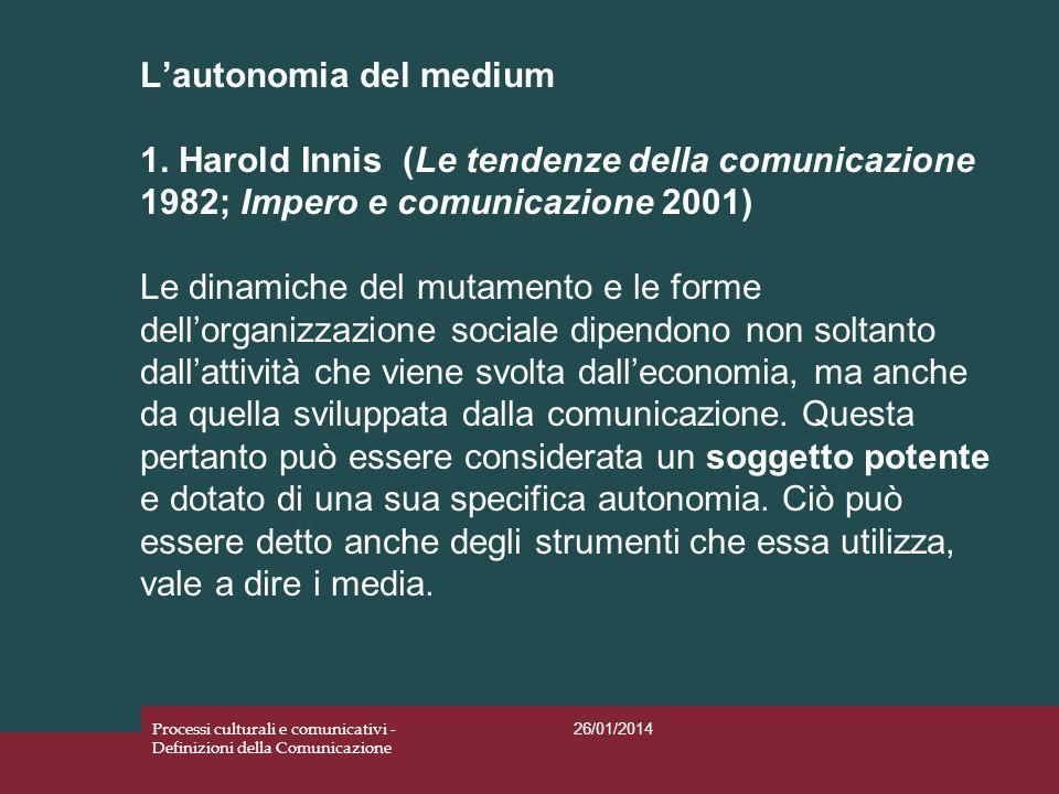 L'autonomia del medium 1