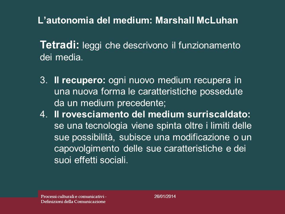 L'autonomia del medium: Marshall McLuhan