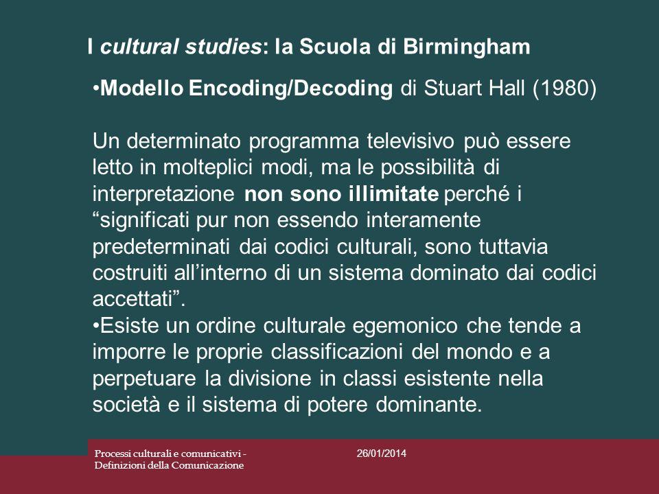 I cultural studies: la Scuola di Birmingham