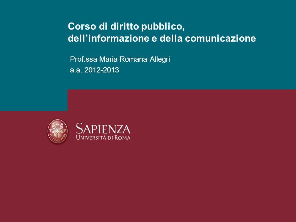 Corso di diritto pubblico, dell'informazione e della comunicazione