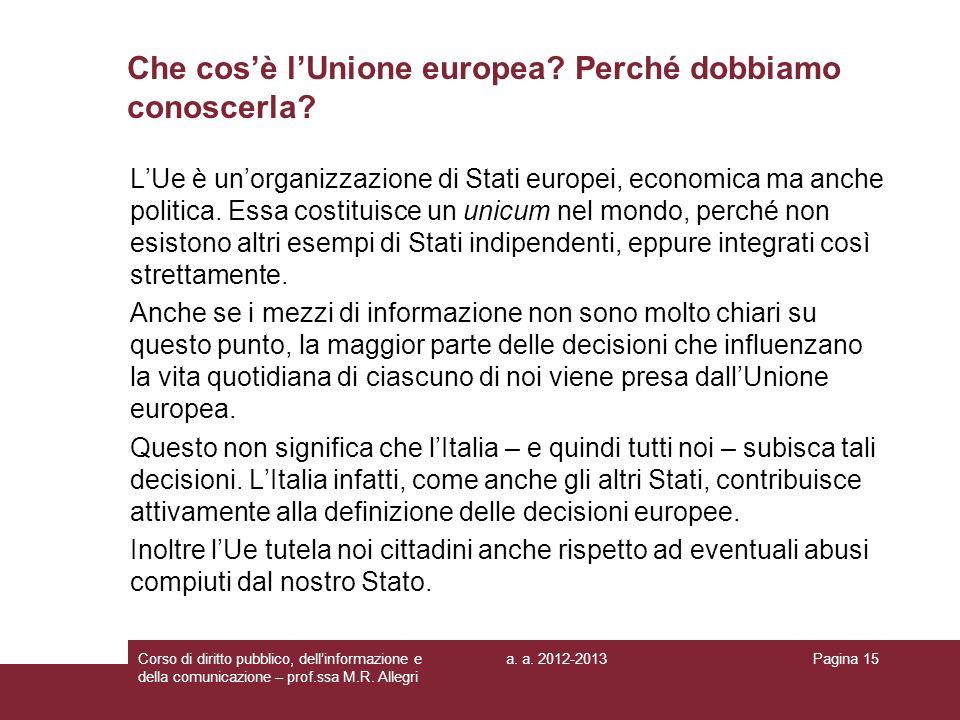 Che cos'è l'Unione europea Perché dobbiamo conoscerla