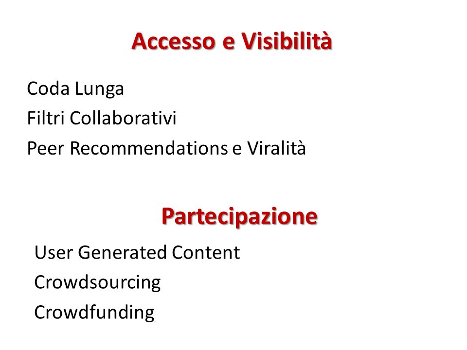 Accesso e Visibilità Partecipazione