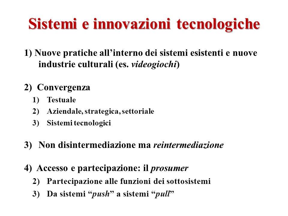 Sistemi e innovazioni tecnologiche