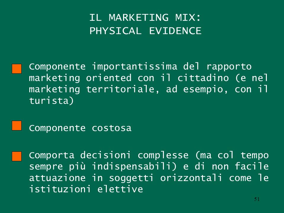 IL MARKETING MIX: PHYSICAL EVIDENCE