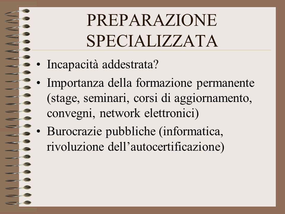 PREPARAZIONE SPECIALIZZATA