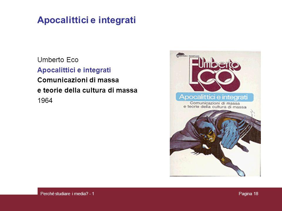 Apocalittici e integrati