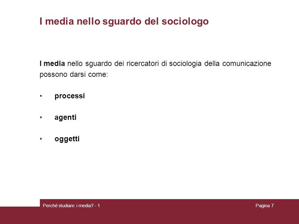 I media nello sguardo del sociologo