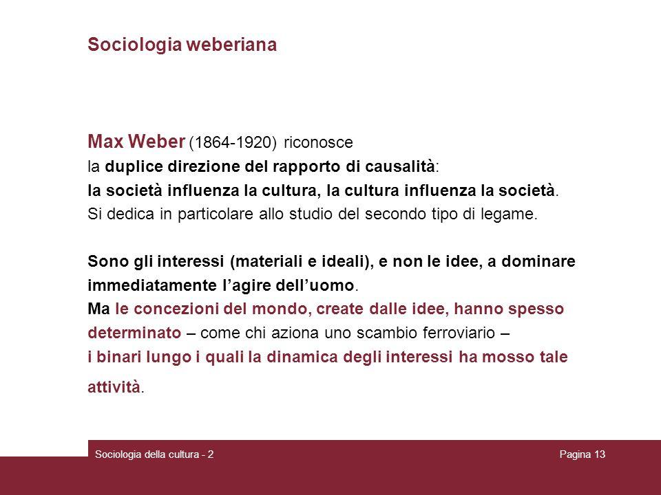 Max Weber (1864-1920) riconosce