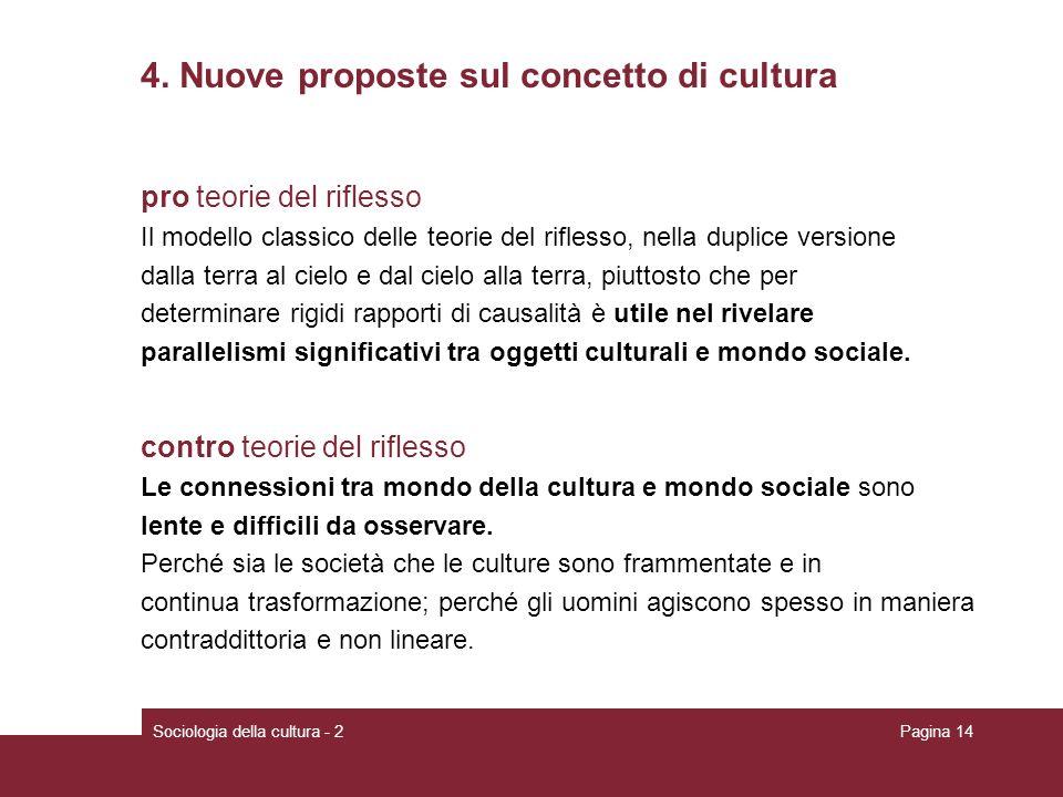 4. Nuove proposte sul concetto di cultura
