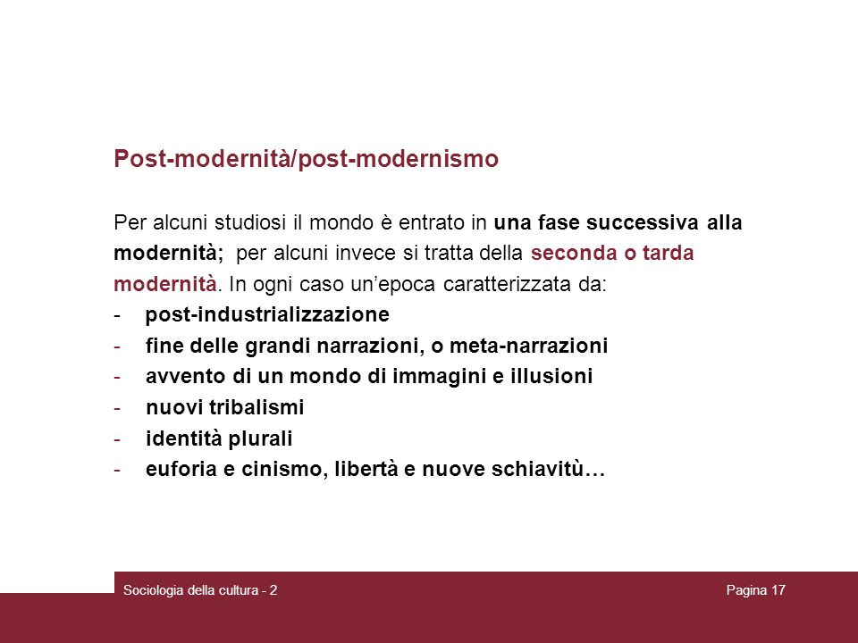 Post-modernità/post-modernismo