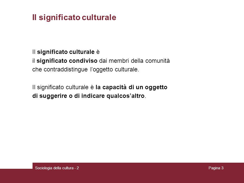 Il significato culturale