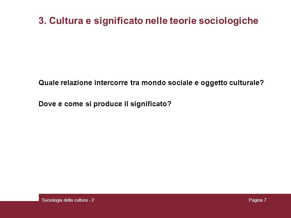 3. Cultura e significato nelle teorie sociologiche