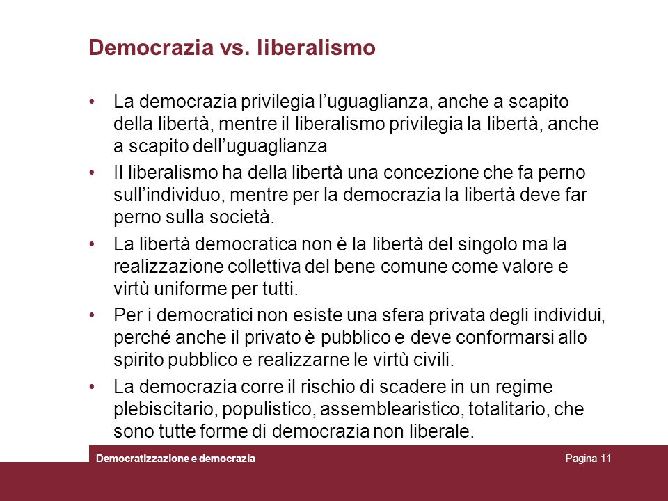 Democrazia vs. liberalismo