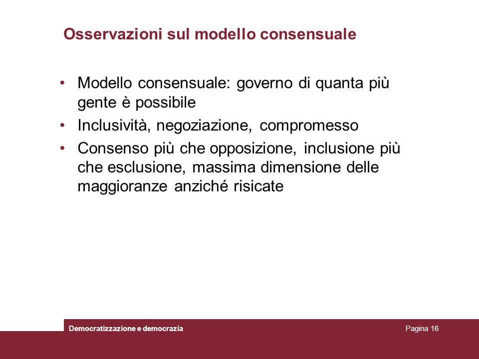Osservazioni sul modello consensuale