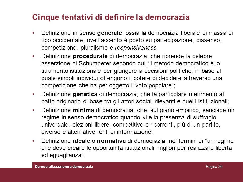 Cinque tentativi di definire la democrazia