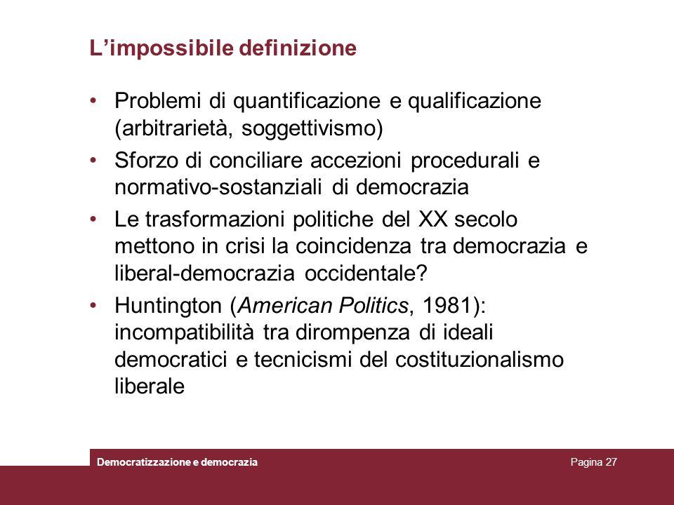L'impossibile definizione