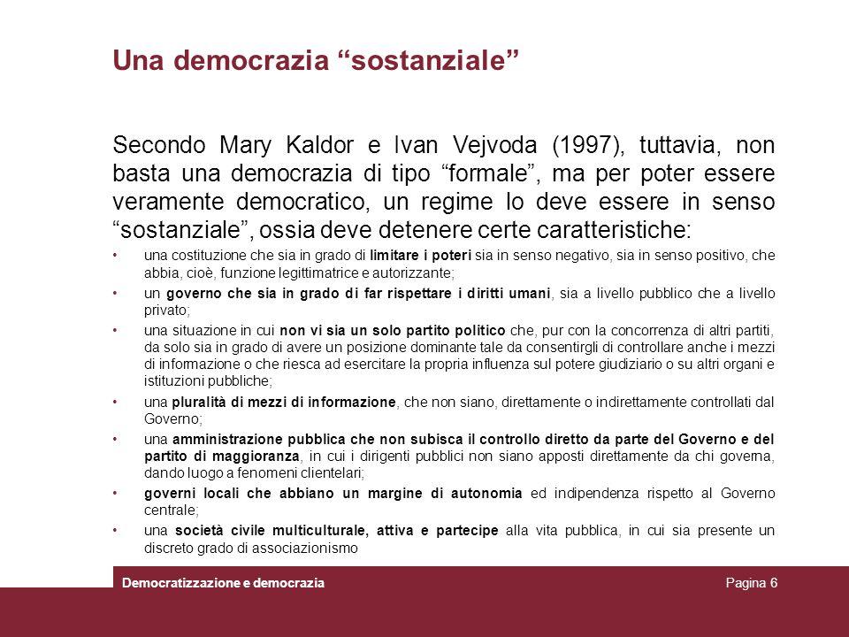 Una democrazia sostanziale