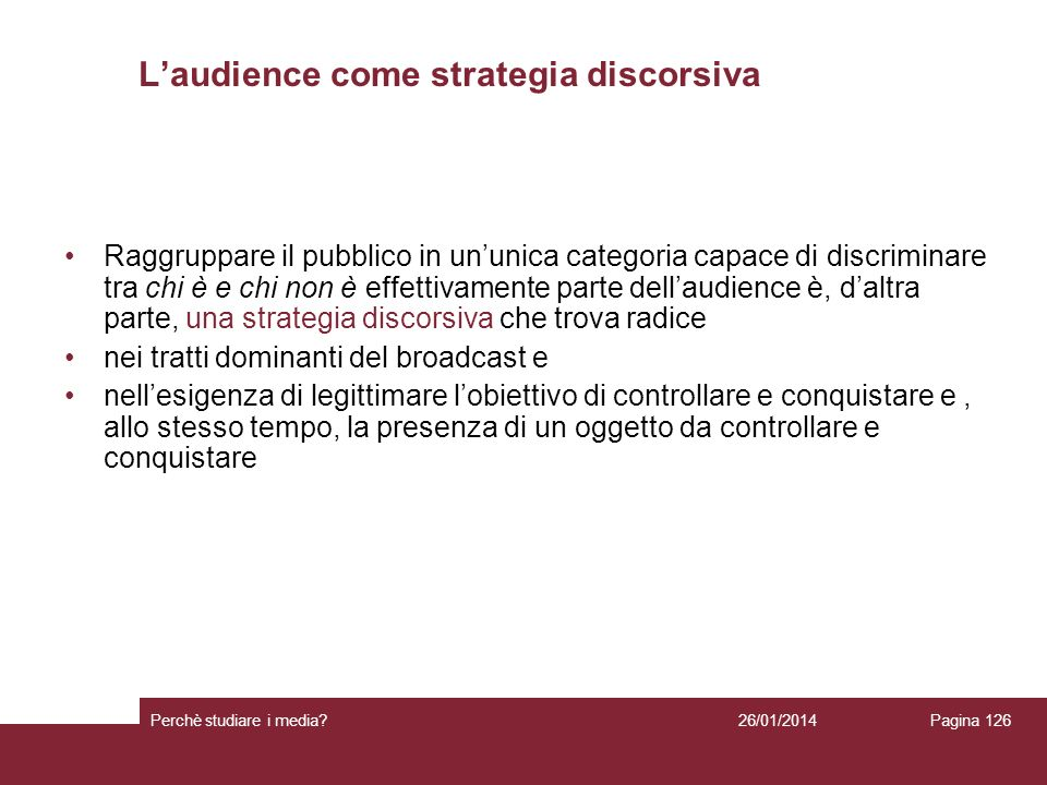 L'audience come strategia discorsiva