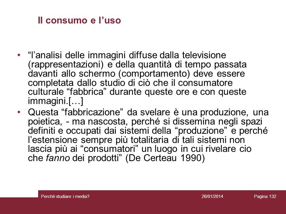 Il consumo e l'uso