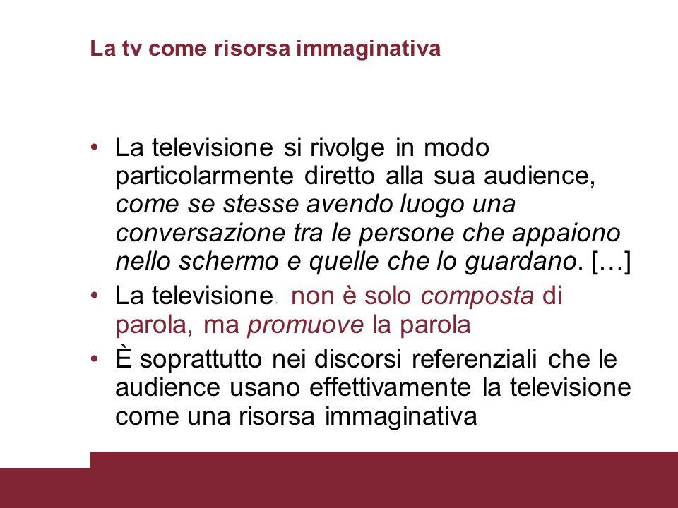 La tv come risorsa immaginativa