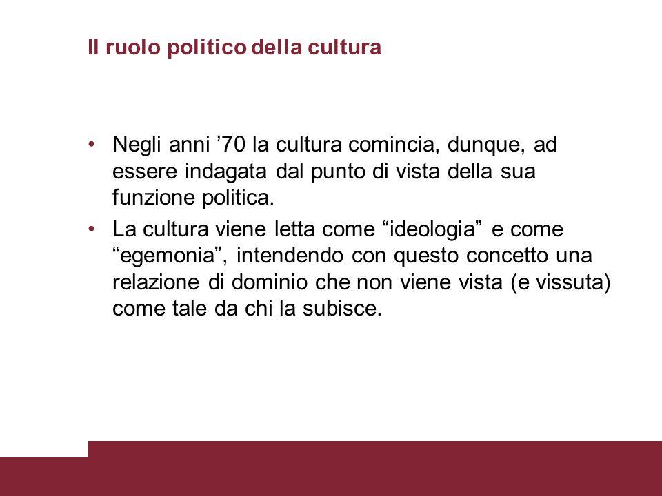 Il ruolo politico della cultura