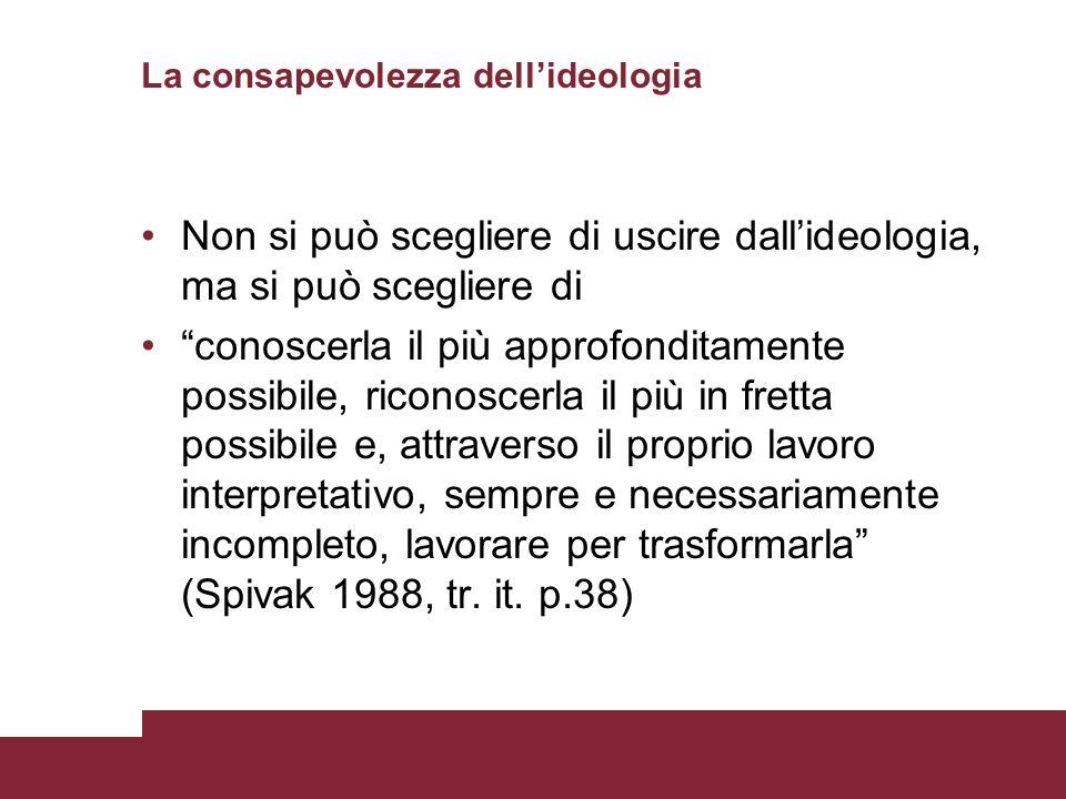 La consapevolezza dell'ideologia