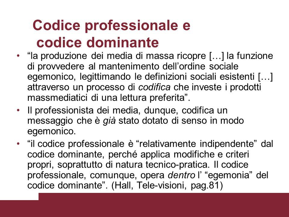 Codice professionale e codice dominante