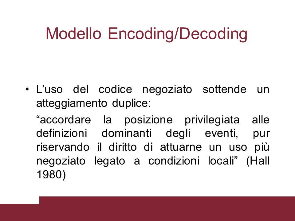 Modello Encoding/Decoding