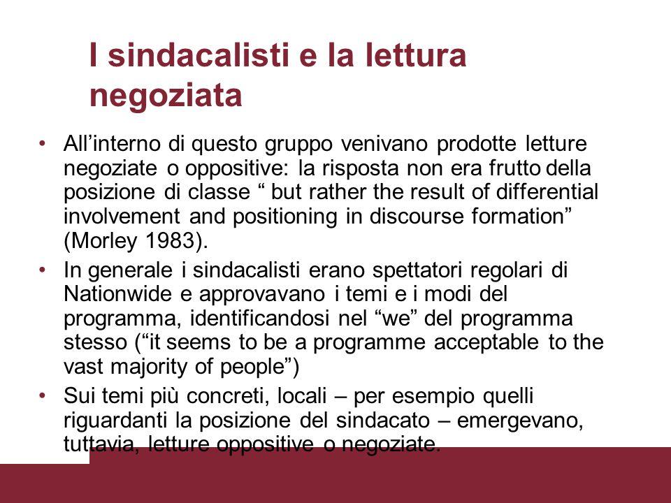 I sindacalisti e la lettura negoziata