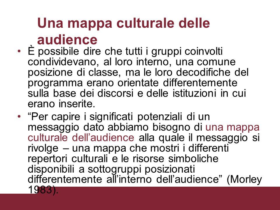Una mappa culturale delle audience