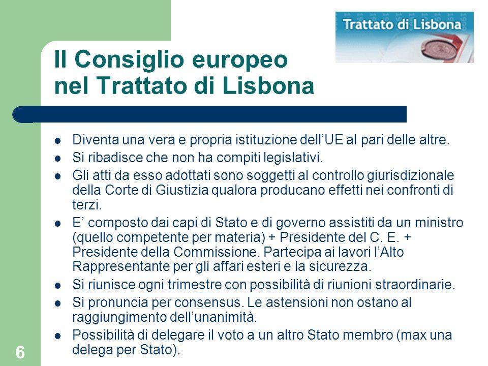 Il Consiglio europeo nel Trattato di Lisbona