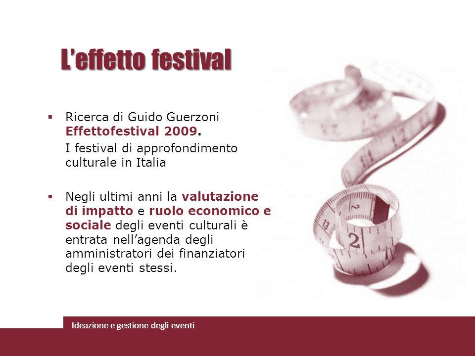 L'effetto festival Ricerca di Guido Guerzoni Effettofestival 2009.