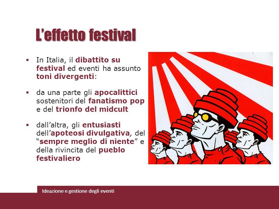 L'effetto festival In Italia, il dibattito su festival ed eventi ha assunto toni divergenti: