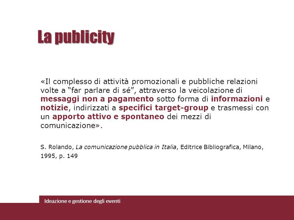 La publicity