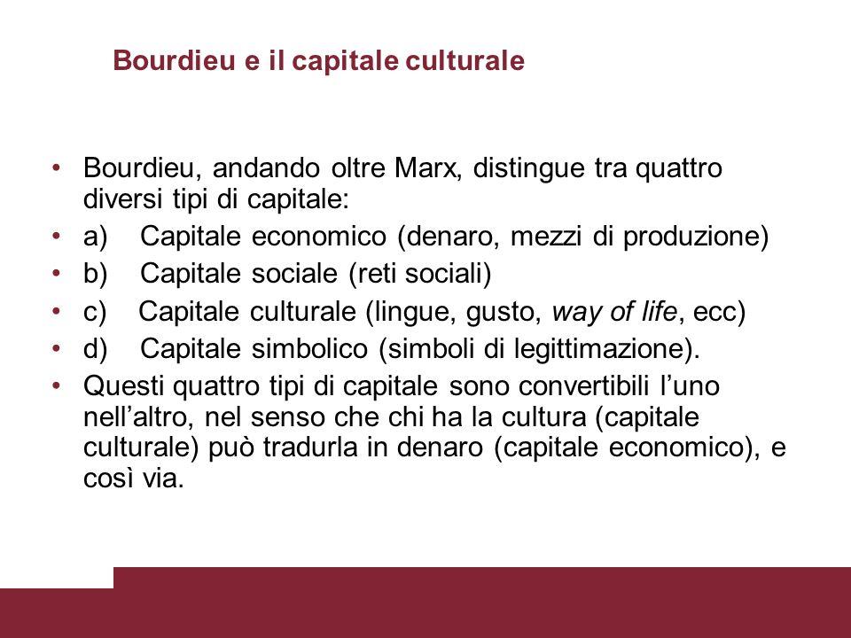 Bourdieu e il capitale culturale