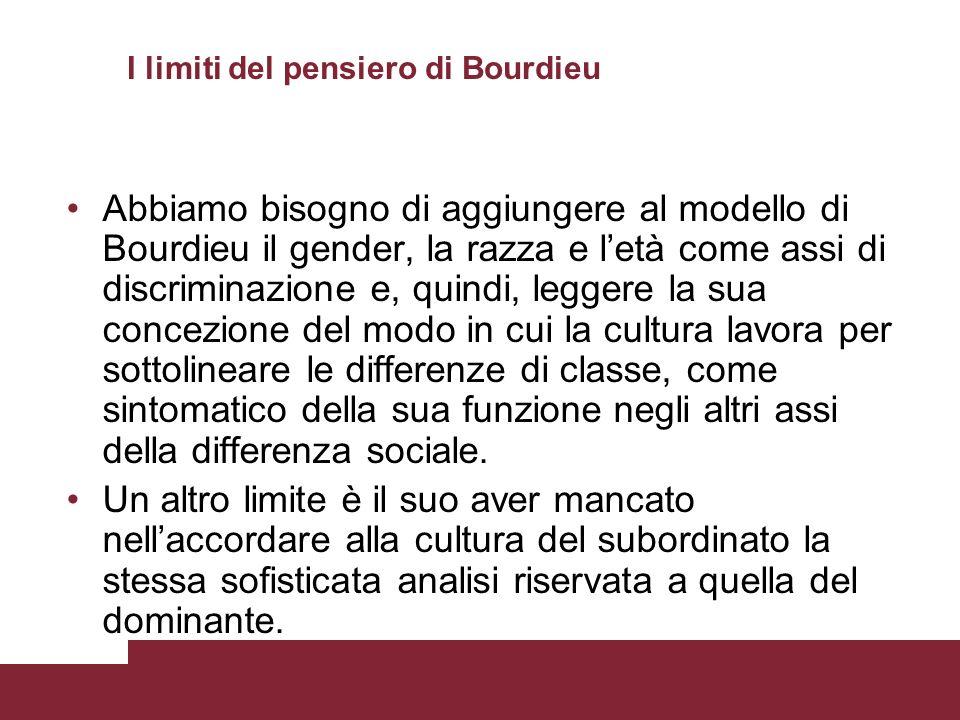 I limiti del pensiero di Bourdieu